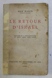 LE RETOUR D ' ISRAEL par MAX MARIN , 1935