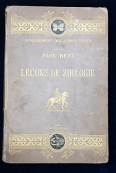 LECONS DE ZOOLOGIE par PAUL BERT - PARIS, 1881