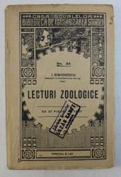LECTURI ZOOLOGICE NR. 24 de I. SIMIONESCU , 1923