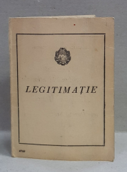 LEGITIMATIE ELIBERATA DE PREZIDIUL MARII ADUNARI NATIONALE , R.P.R. , DOMNULUI MIHALACHE CTIN ., MEDALIAT CU  ' MEDALIA MUNCII  ', 21 AUGUST 1954