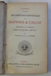 LES AMOURS PASTORALES DE DAPHNIS ET CHLOE par LONGUS , 1876