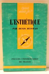 L`ESTHETIQUE par DENIS HUISMAN , 1963