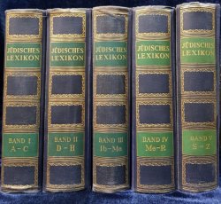 LEXICON IUDAIC de DR. GEORG HERLITZ si DR. BRUNO KIRSCHNER, 5 VOL - BERLIN, 1927