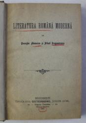 LITERATURA ROMANA MODERNA de GHEORGHE ADAMESCU si MIHAIL DRAGOMIRESCU , 1906