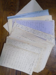 Lot documente si scrisori manuscrise in limba franceza