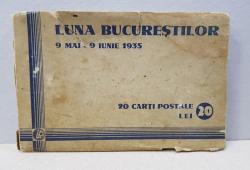 LUNA BUCURESTILOR 9 MAI - 9 IUNIE 1935 , SET DE 20 CARTI POSTALE
