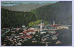 MANASTIREA AGAPIA ( JUDETUL NEAMT ) - VEDERE GENERALA , CARTE POSTALA ILUSTRATA , POLICROMA, CIRCULATA , DATATA 1932