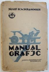 MANUAL GRAFIC  - NOTIUNI  TECHNICE SI PRACTICE PENTRU UZUL ELEVILOR SI LUCARTORILOR  IN ARTELE GRAFICE de IOSIF R.W. KRANNICH , 1928