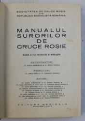MANUALUL SURORILOR DE CRUCE ROSIE , EDITIA A II - a REVAZUTA SI ADAUGITA de ELENA ADASCALITEI si PORFIR POPESCU , 1979