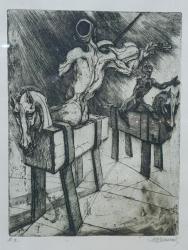 Marcel Chirnoaga (1930-2008) - Gravura