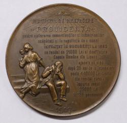 MEDALIE INSTITUTUL DE BINEFACERE PROVIDENTA , 1907 , RESCH