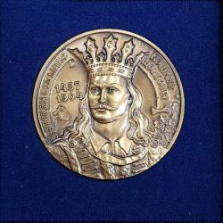 MEDALIE  ' STEFAN CEL MARE DOMNUL MOLDOVEI 1457 - 1504 ' , LUCRATA DE S . GR. , MATERIAL  - BRONZ