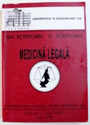 MEDICINA LEGALA  de GH. SCIPCARU si C . SCRIPCARU , 1996