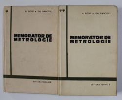 MEMORATOR DE METROLOGIE de N. ILIOIU si GH. IVANOVICI , VOLUMELE I - II , 1965