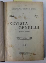 MEMORIALUL GENIULUI  - PUBLICAREA LUCRARILOR DE INSTRUCTIE ALE OFITERILOR DIN GENIU , REVISTA , COLEGAT DE SASE NUMERE  ( 7 -12  ) APARUTE IN PERIOADA   IULIE - DECEMBRIE ,  1925