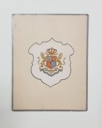Meniu cu stema regala 18/30 OCTOBRE 1896