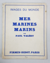 MER MARINES MARINS par PAUL VALERY - PARIS, 1930
