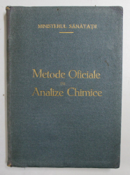 METODE OFICIALE DE ANALIZE CHIMICE , 1943