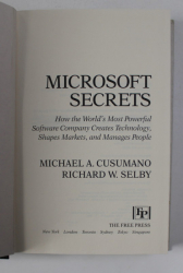 MICROSOFT SECRETS by MICHAEL A. CUSUMANO and RICHARD W. SELBY , 1995