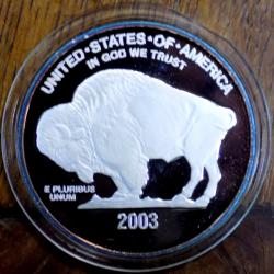 MONEDA COMEMORATIVA DIN ARGINT FIN , STATELE UNITE ALE AMERICII , 2003