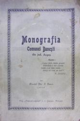 MONOGRAFIA COMUNEI BUNESTI DIN JUDETUL ARGES , 1934