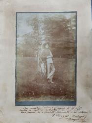 NICOLAE LEONARD, FOTOGRAFIE CU DEDICATIE , 8 AUGUST 1915