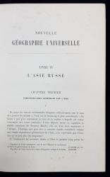 NOUVELLE GEOGRAPHIE UNIVERSELLE, ASIE RUSSE par ELISEE RECLUS - PARIS, 1875