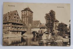 NURNBERG - HENKERSTEG , CARTE POSTALA ILUSTRATA , MONOCROMA, CIRCULATA , ADRESATA DOAMNEI ALICE STURDZA , DATATA 1913