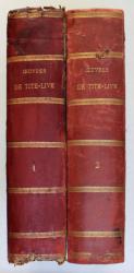 OEUVRES DE TITE - LIVE - HISTOIRE ROMAINE , TOME PREMIER - TOME SECOND , 1877