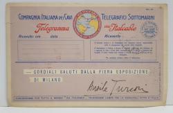 OFFICIO ITALCABLE ALL FIERA ESPOSIZIONE DI MILANO , CARTE POSTALA DE RECLAMA , 1928