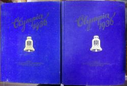 OLYMPIA . DIE OLYMPISCHEN SPIELE BERLIN 1936 / ALBUM FOTOGRAFIC DE PROPAGANDA DEDICAT OLIMPIADEI DIN BERLIN , 2 VOL , 1936