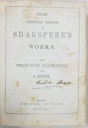 OPERE COMPLETE ALE LUI WILLIAM SHAKESPEARE de JOHN DICKS - LONDRA, 1803