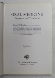 ORAL MEDICINE - DIAGNOSIS AND TREATMENT by LESTER W. BURKET, 1971