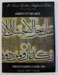 ORIENT ET SES ARTS , CATALOG DE LICITATIE DROUOT , 23 APRILIE , 1994