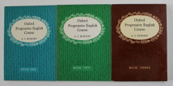 OXFORD PROGRESSIVE ENGLISH by A.S. HORNBY , THREE VOLUMES , 1965