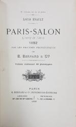 PARIS-SALON CHAMP de MARS 1892 PAR LES PROCEDES PHOTOTYPIQUES DE E. BERNARD & Cie - PARIS, 1892