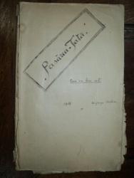 Pasarea Tata, piesa in trei acte, George Carlovs, manuscris inedit