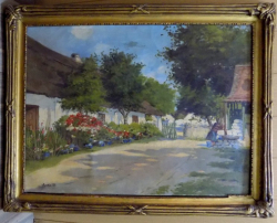 Peisaj de tara , Scoala Maghiara Semnat stanga jos indescifrabil