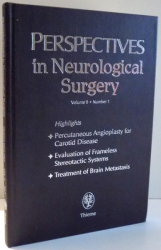 PERSPECTIVES IN NEUROLOGICAL SURGERY by WINFIELD S. FISHER, VOLUME 9, NUMBER 1