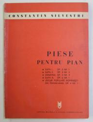 PIESE PENTRU PIAN de CONSTANTIN SILVESTRI , 1973