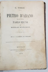 PIETRO D'ABANO tradus dupa PAOLO BRUNO de NICOLAE MICHAESCU - BUCURESTI, 1870