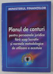 PLANUL DE CONTURI PENTRU PERSOANELE JURIDICE FARA SCOP LUCRATIV SI NORMELE METODOLOGICE DE UTILIZARE A ACESTUIA , 1999