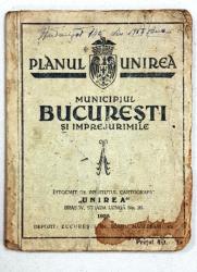 Planul Unirea, Municipiul Bucuresti si Imprejurimile - 1935