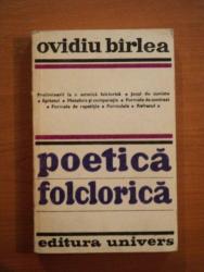 POETICA FOLCLORICA de OVIDIU BIRLEA  1979