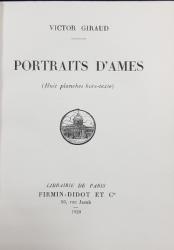 PORTRAITS D'AMES par VICTOR GIRAUD - PARIS, 1929