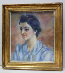 Portret de tanara, Semnat indescifrabil