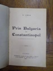 PRIN BULGARIA LA CONSTANTINOPOL de N. IORGA, Bucuresti 1907