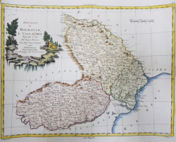 Principatul Moldovei si Valahiei, Rizzi Zanoni - Venetia, 1782, Gravura