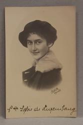 PRINTESA SOPHIE DE LUXEMBOURG , CARTE POSTALA ILUSTRATA , MONOCROMA, NECIRCULATA , DATATA 1921