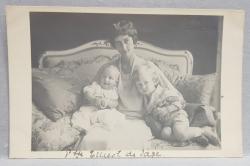 PRINTESA SOPHIE DE SACHSEN SI PRINTII ALBRECHT SI GEORG , CARTE POSTALA ILUSTRATA , MONOCROMA , NECIRCULATA , DATATA 1921